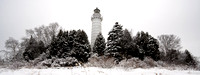 Cana Island Lighthouse in Winter - Panorama