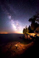 Milky Way over Cave Point