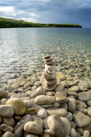 Tiny Cairn on Schoolhouse Beach - Vert