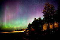 Rustic Sister Bay Cabin & Northern Lights
