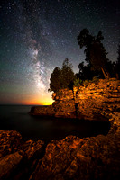 Milky Way over Cave Point Shoreline #2